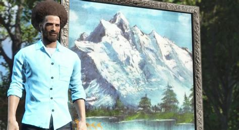 bob ross painting the universe bob ross and the of painting live on in fallout 4