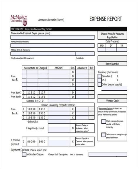 expense report form expense report template in excel