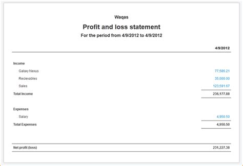 9 simple profit and loss statement academic resume template
