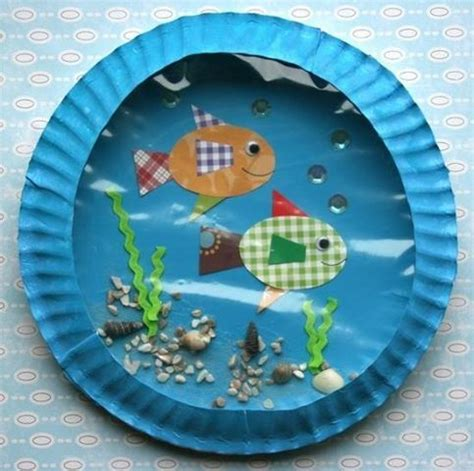 Paper Fish Bowl Craft - fish bowl with paper plates paper plates