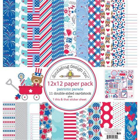 doodlebug paper packs doodlebug design patriotic parade collection 12 x 12