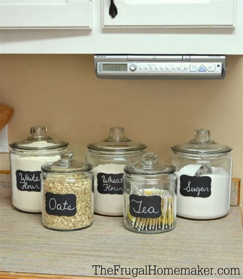 what to put in kitchen canisters adding some chalkboard to my glass canisters