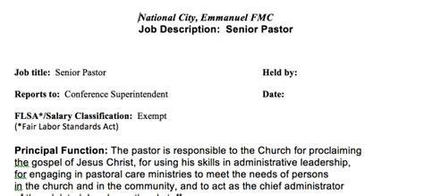 church administrator job description three kinds of