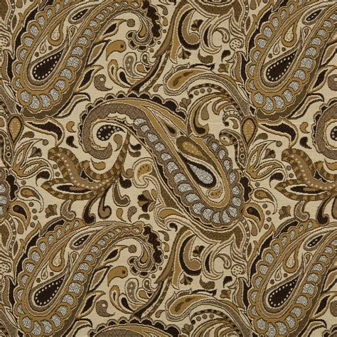 reupholstery fabric beige and brown paisley damask upholstery fabric