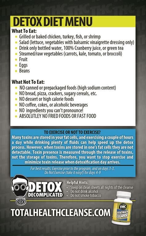 Detox Directions by Total Health Cleanse Detox Part 2 Thc Detox