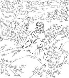 jesus pray in the garden of gethsemane coloring page