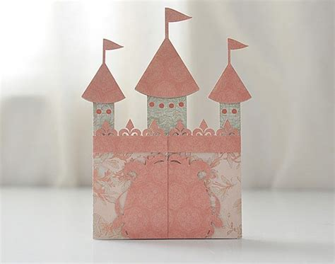 Gift Card Holder Castle Template by Castle Card Svg File Castle Invitation