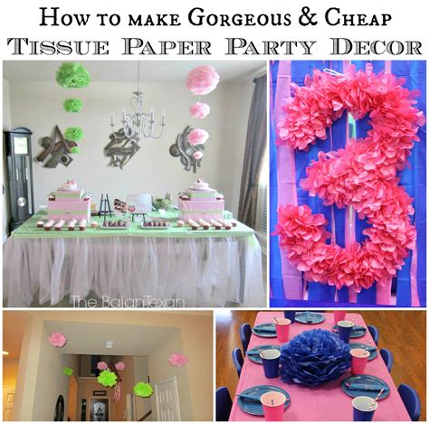How To Make Decorations From Tissue Paper - diy tissue paper flower decor tutorial the