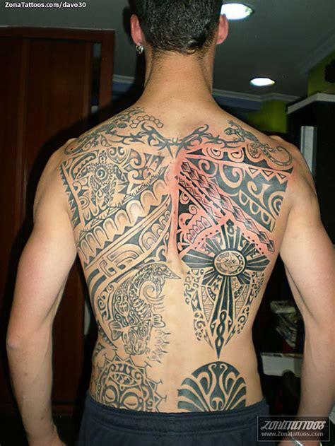 back tattoos for black men black ink maori back for