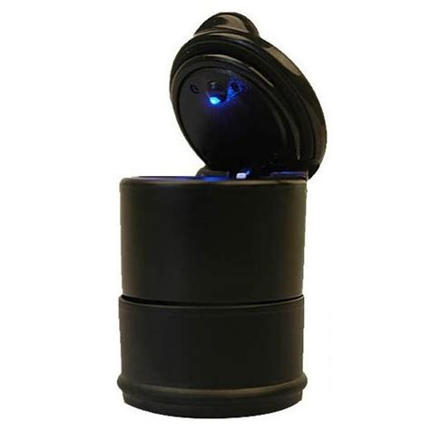Asbak Roko Dalam Mobil Omrs1dbk noctilucent abs car ashtray with led light model a black jakartanotebook