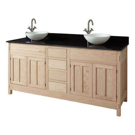 unfinished wood bathroom vanity cabinets 72 quot unfinished mission hardwood vessel sink vanity wood