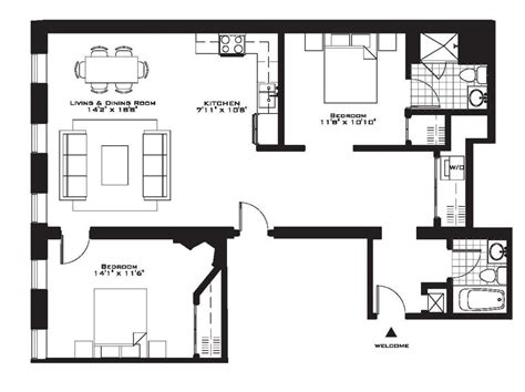 two floor plans luxury two bedroom house plans inspirational exquisite