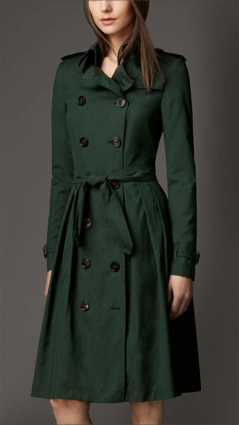Trench Coat lyst burberry skirted wool silk trench coat in