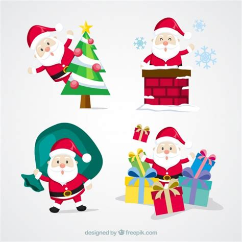 imagenes de santa claus gratis pack bonito de santa claus con objetos de navidad