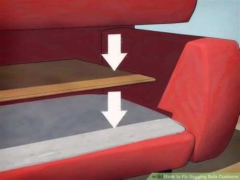fix sagging sofa with plywood 4 ways to fix sagging sofa cushions wikihow
