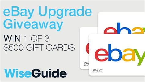 Win A Ebay Gift Card - win one of three 500 ebay gift cards atv com