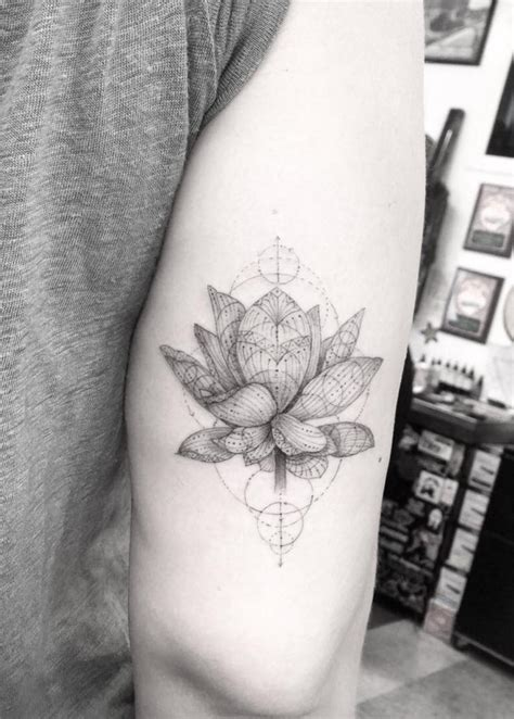 dr woo tattoos dr woo artist half needle lotus flower