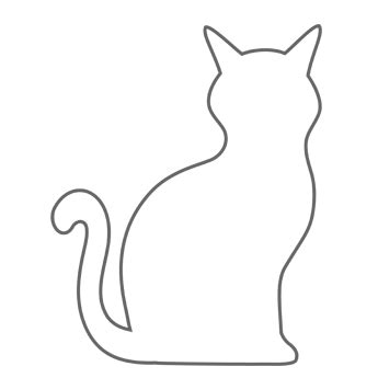 black cat template printable cat free n from trading
