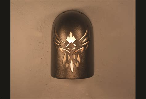 Southwest Light Fixtures 8 Quot Sky Design In Anodized Bronze Indoor Outdoor Southwest Ceramic Lighting
