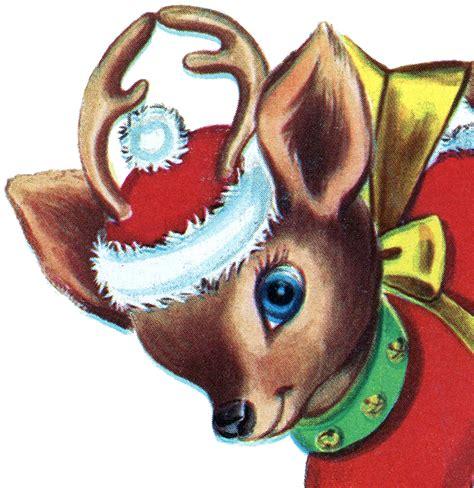 Jewish Decorations Home retro christmas reindeer image the graphics fairy