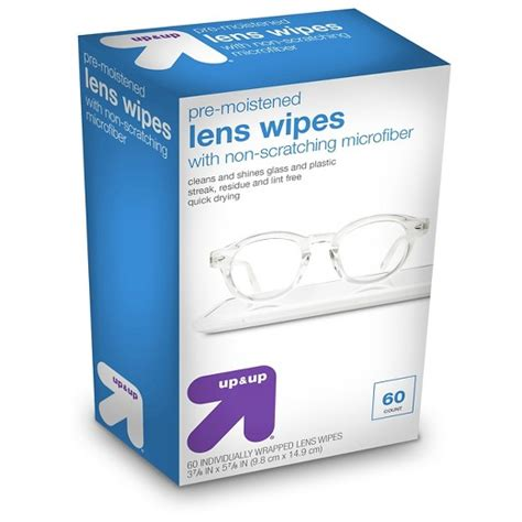 pre moistened lens wipes 60 ct up up target