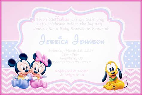 como imprimir tarjetas de invitacion en fotos invitaciones de baby shower de minnie mouse para imprimir