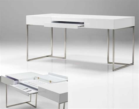 White Gloss Desk by Oma Desk High Gloss White Mobital Home