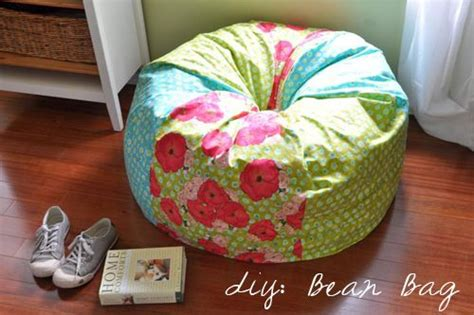 photo bean bag diy diy bean bag chair with great tutorial lots of craft