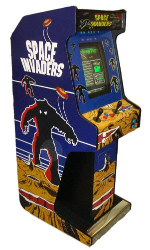 Space Invaders Cabinet by Voyager Upright Arcade Machine Space Invaders