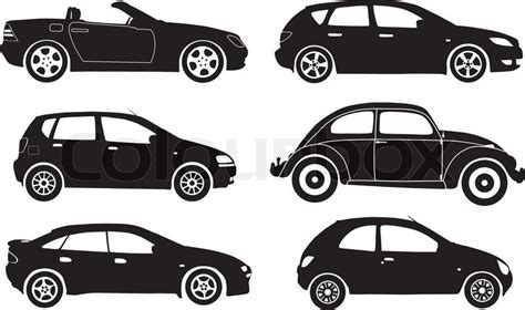 car layout vector silhouette cars vector illustration stock vector