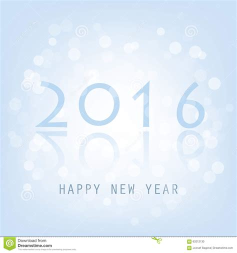 new year card template 2016 best wishes blue abstract modern style happy new year