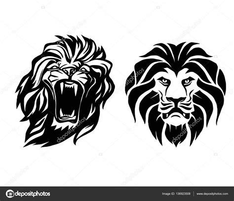 imagenes vectores leon cabeza de le 243 n logotipo de plantilla de vector