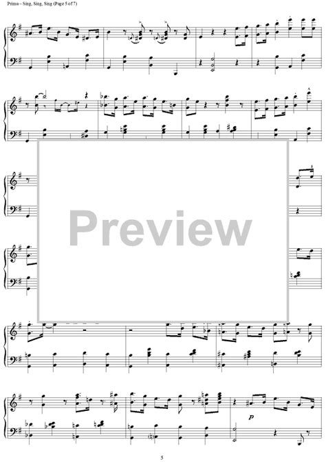 sing sing sing with a swing louis prima louis prima sing sing sing with a swing sheet