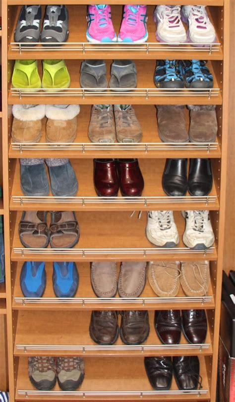 slanted shoe shelves closet accessories creative closet solutions