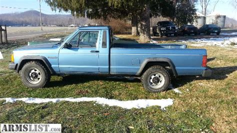 jeep comanche blue armslist for sale 1989 jeep comanche trade for guns ammo