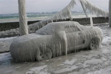 worst blizzard ever recorded ice car by sunrise photo weather underground