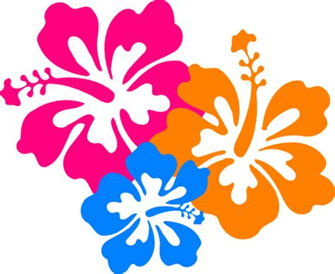 Printable Pictures Of Hawaiian Flowers | hibiscus flower 6 clip art at clker com vector clip art