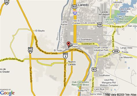 laredo texas map map of grande plaza hotel laredo