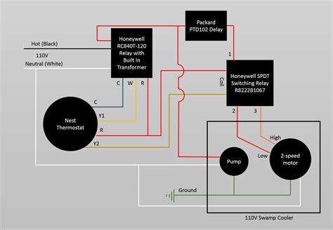 switching relay wiring diagram thermostat for nest