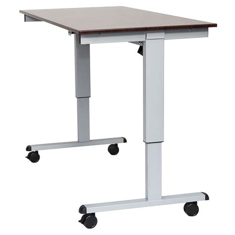 Modern Stand Up Desk Malibu 60 Quot Modern Stand Up Desk Silver Walnut Eurway
