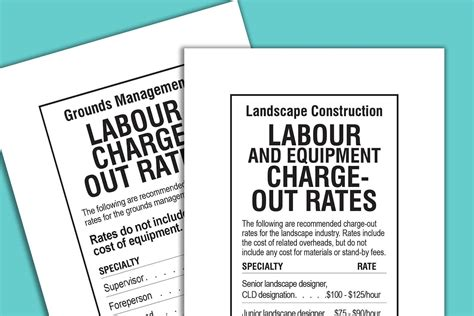 Landscaper Fees New Charge Out Rates Available Landscape Ontario