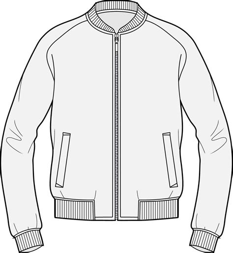 bomber jacket design template bomber spec tecnical pinterest sketches drawings