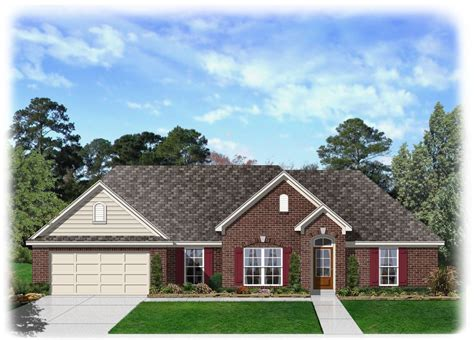 brick ranch home plans 4 bedroom brick ranch home plan 68019hr architectural
