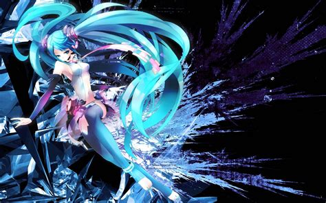 wallpaper anime hatsune miku hatsune miku wallpapers wallpaper cave