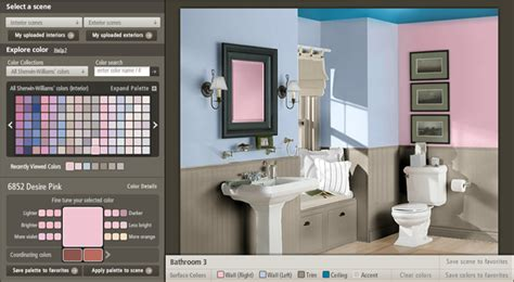 Design Your Home Online Room Visualizer | living with color discover paint with sherwin williams