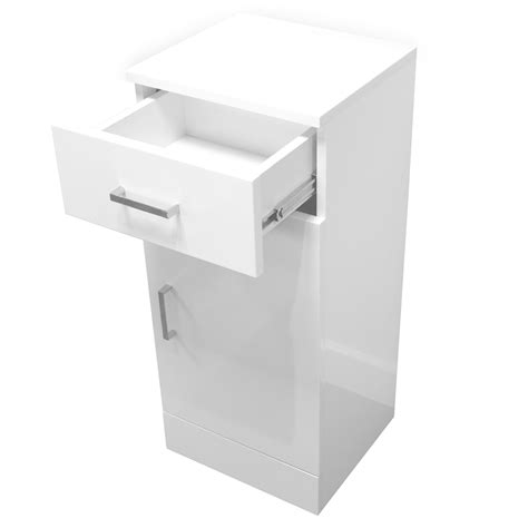 Buy High Gloss White Quot Arezzo Quot Bathroom Cabinet W Soft High Gloss Bathroom Storage