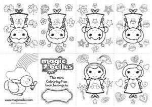 mini coloring books magic belles printable colouring book