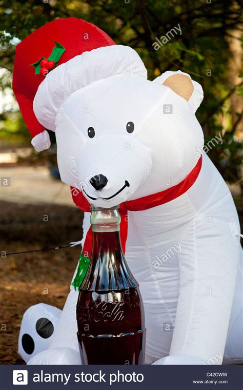 coca cola polar bear inflatable christmas holiday