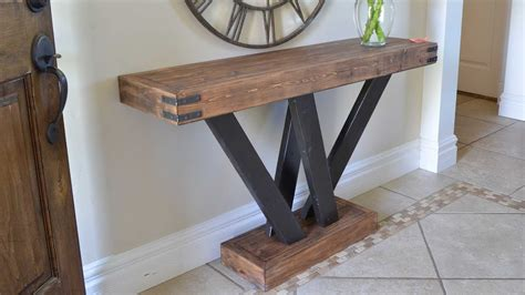 how to build a sofa table rustic 2x4 console table build 2x4andmore youtube
