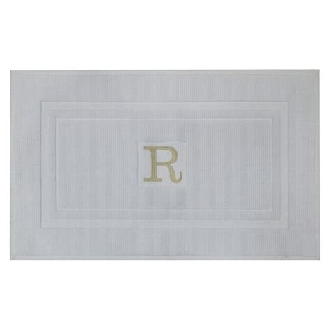 bathroom mats target monogram bath mat white threshold target